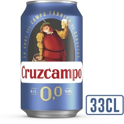 CERVEZA CRUZCAMPO LATA 0 0% ALC 330 ML 24 UDS