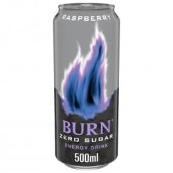 BURN ENERGY ZERO RASPEBERRY 500 CC 12 UDS