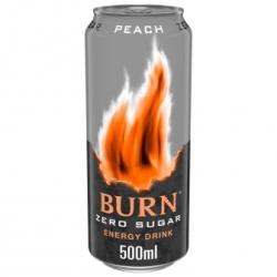 BURN ENERGY ZERO PEACH 500 CC 12 UDS