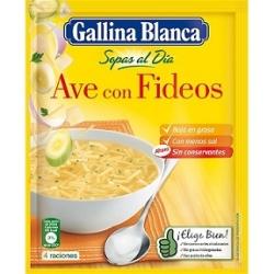 SOPA AVE CON FIDEOS 76 GR GALLINA BLANCA