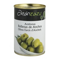 ACEITUNA RELLENA ANCHOA LATA 250 GRS ARANZAZU