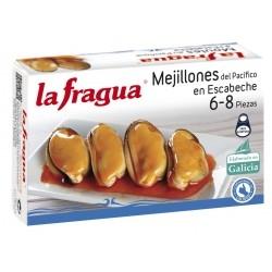 MEJILLONES EN ESCABECHE 6 8 LATA 120 ML LA FRAGUA