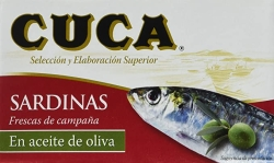 SARDINAS ACEITE OLIVA 120 GRS CUCA