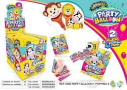 PARTY BALLON POPPIN ANIMAL 16 UDS 1 00     DISGO