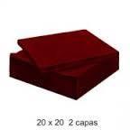 SERVILLETAS BURDEOS 20X20 100 UDS