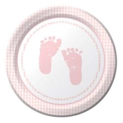 PLATOS PEQUE� OS PLAID BABY GIRL PARTY