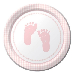 PLATOS GRANDES PLAID BABY GIRL PARTY